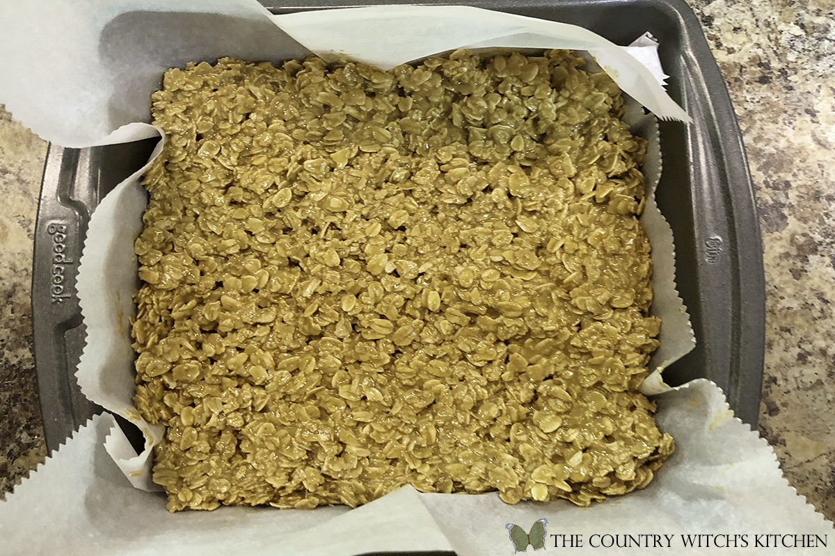 oat and peanut butter mixture