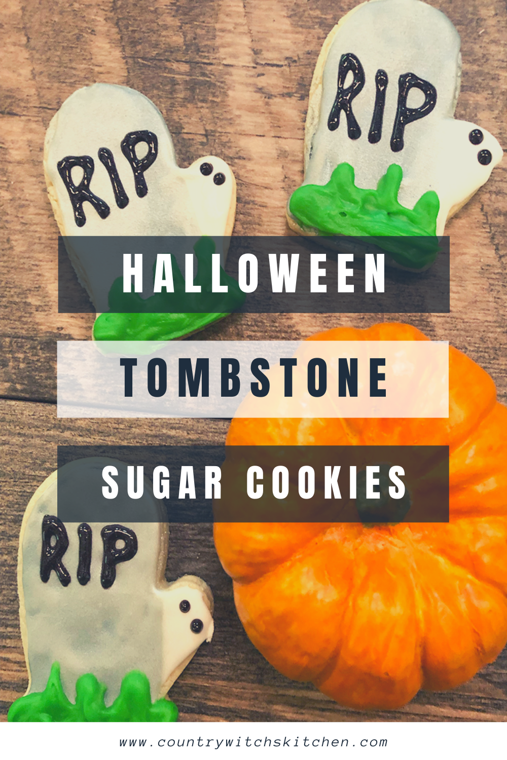 This easy iced sugar cookie recipe is the perfect Halloween snack for all ages. #Halloweencookie #sugarcookierecipe #fallbaking