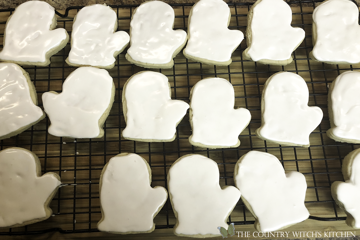iced Halloween sugar cookies