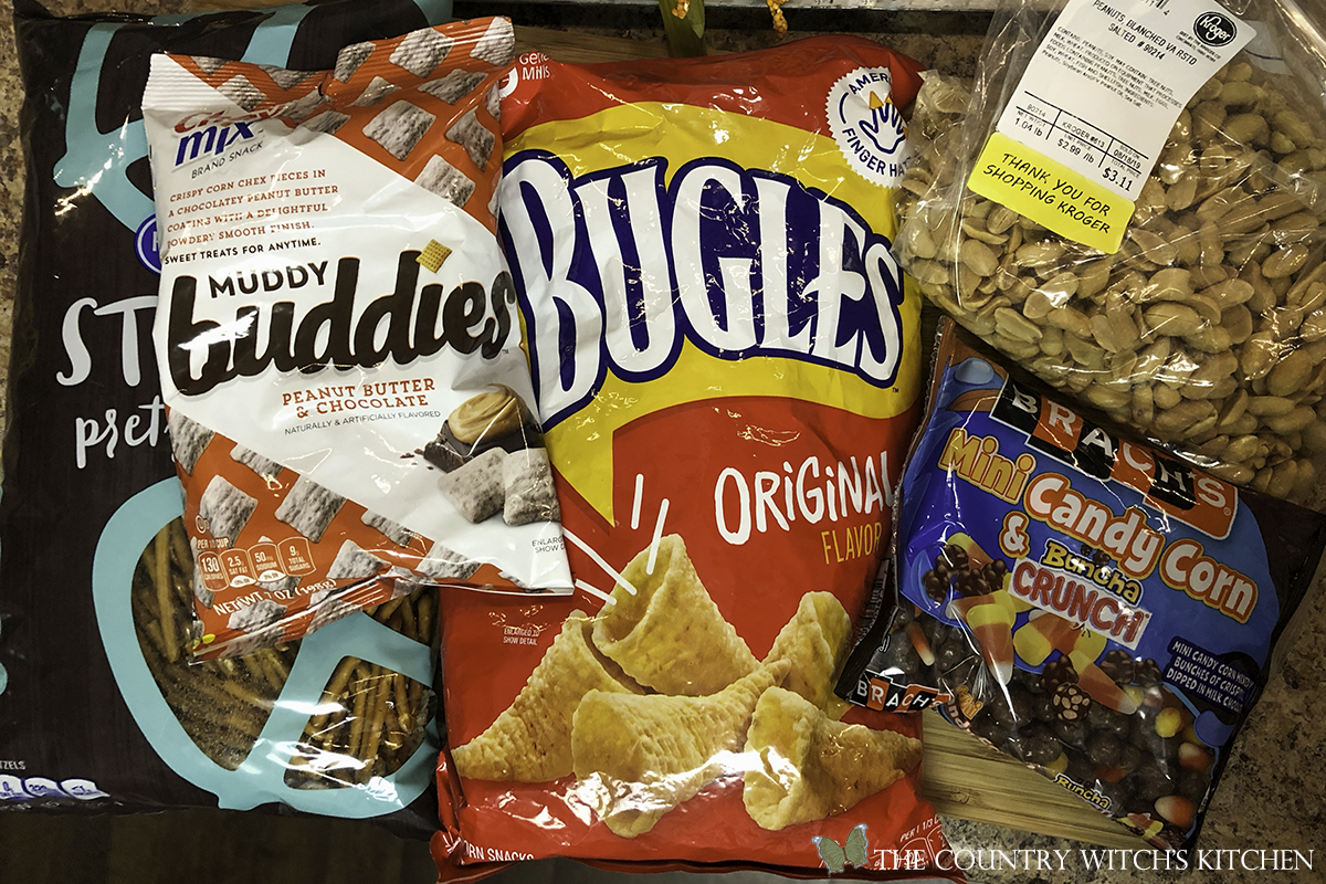 ingredients for haunted trail mix