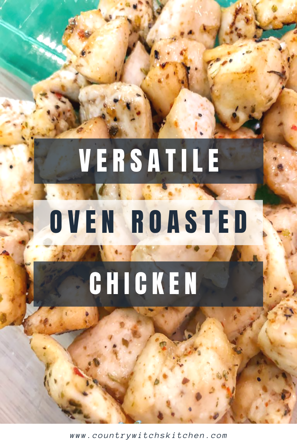This quick and easy oven roasted chicken breast recipe is a great ingredient to have on hand for salads, wraps, and tons of other healthy recipes! #roastedchicken #lunch #mealprep #healthyrecipe #easychickenrecipe