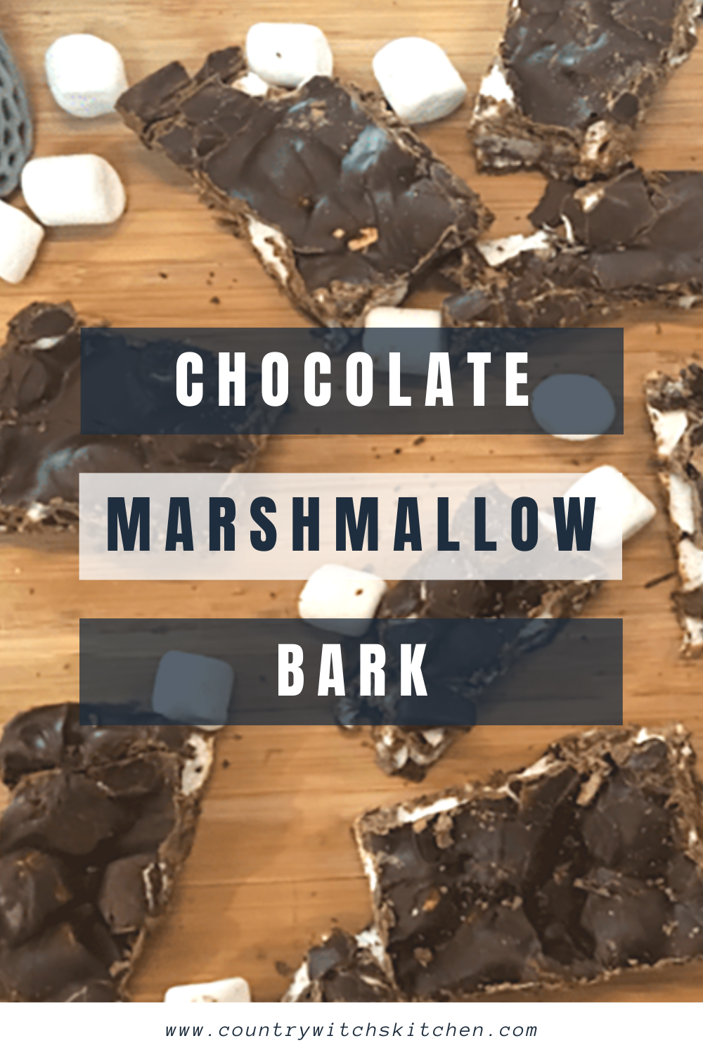 This chocolate marshmallow bark is a great low fat treat that takes just minutes to make #chocolate #chocolatebark #marshmallow #chocolatemarshmallow #candy