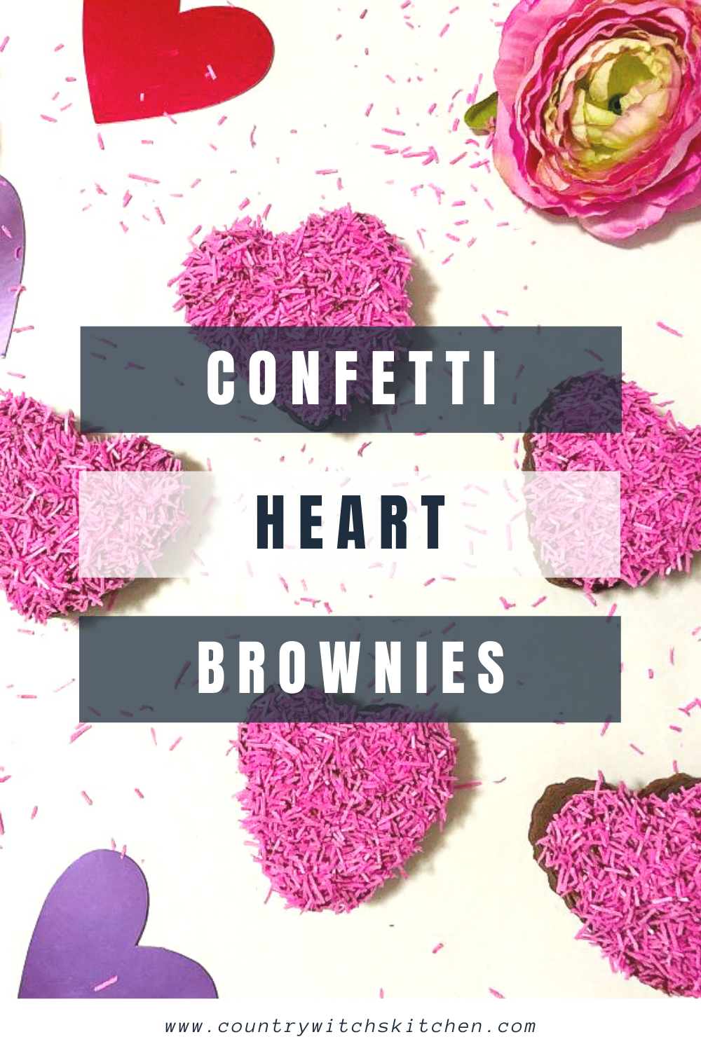 This simple Valentine's Day brownie is a great treat for kids of all ages and it comes together in just minutes! #brownie #valentinesday #heartshaped #chocolateheart