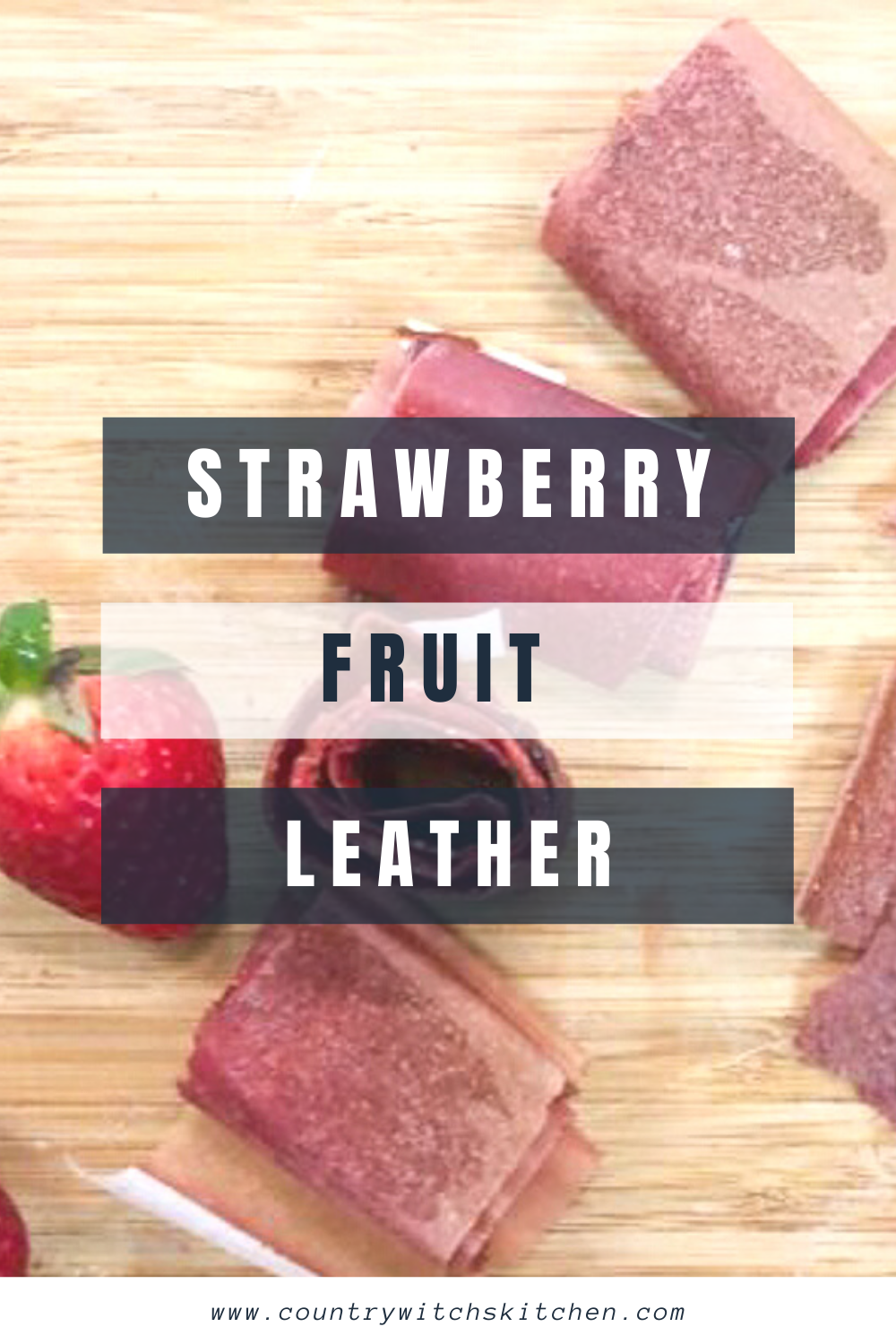 This simple strawberry fruit leather recipe is a great homemade healthy snack that both kids and adults will love #fruitleather #homemadefruitsnacks #healthyfruitsnack #healthysnack